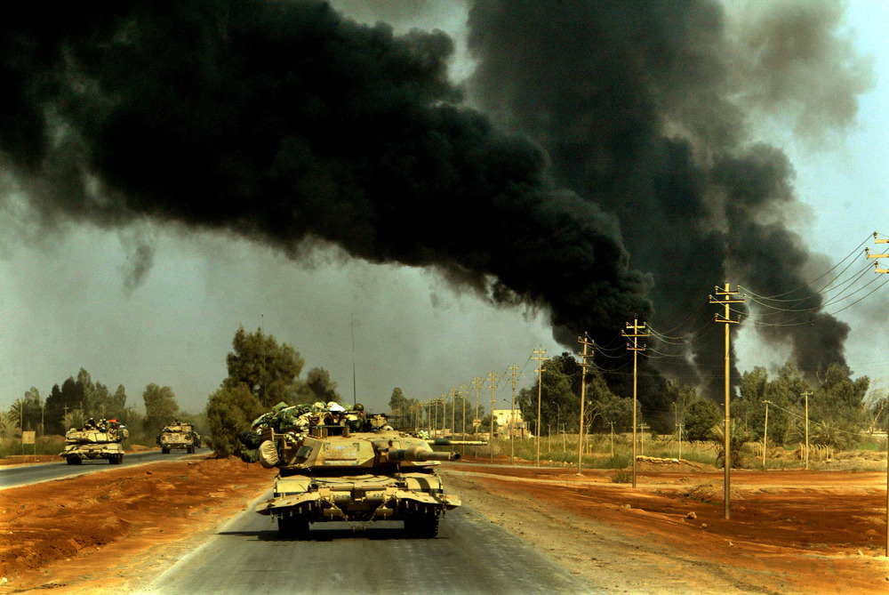 Driving into Iraq
