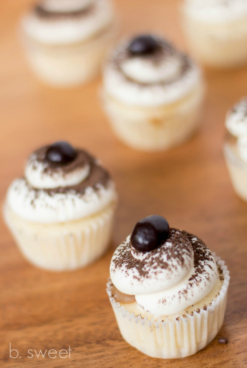 Tiramisu Mini cupcakes with Espresso Buttercream