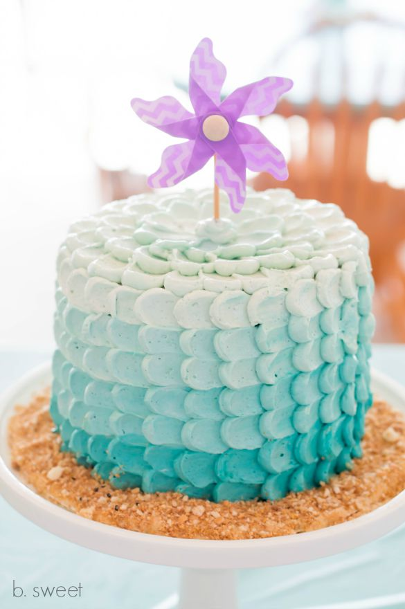 Ombre Petal Smash Cake