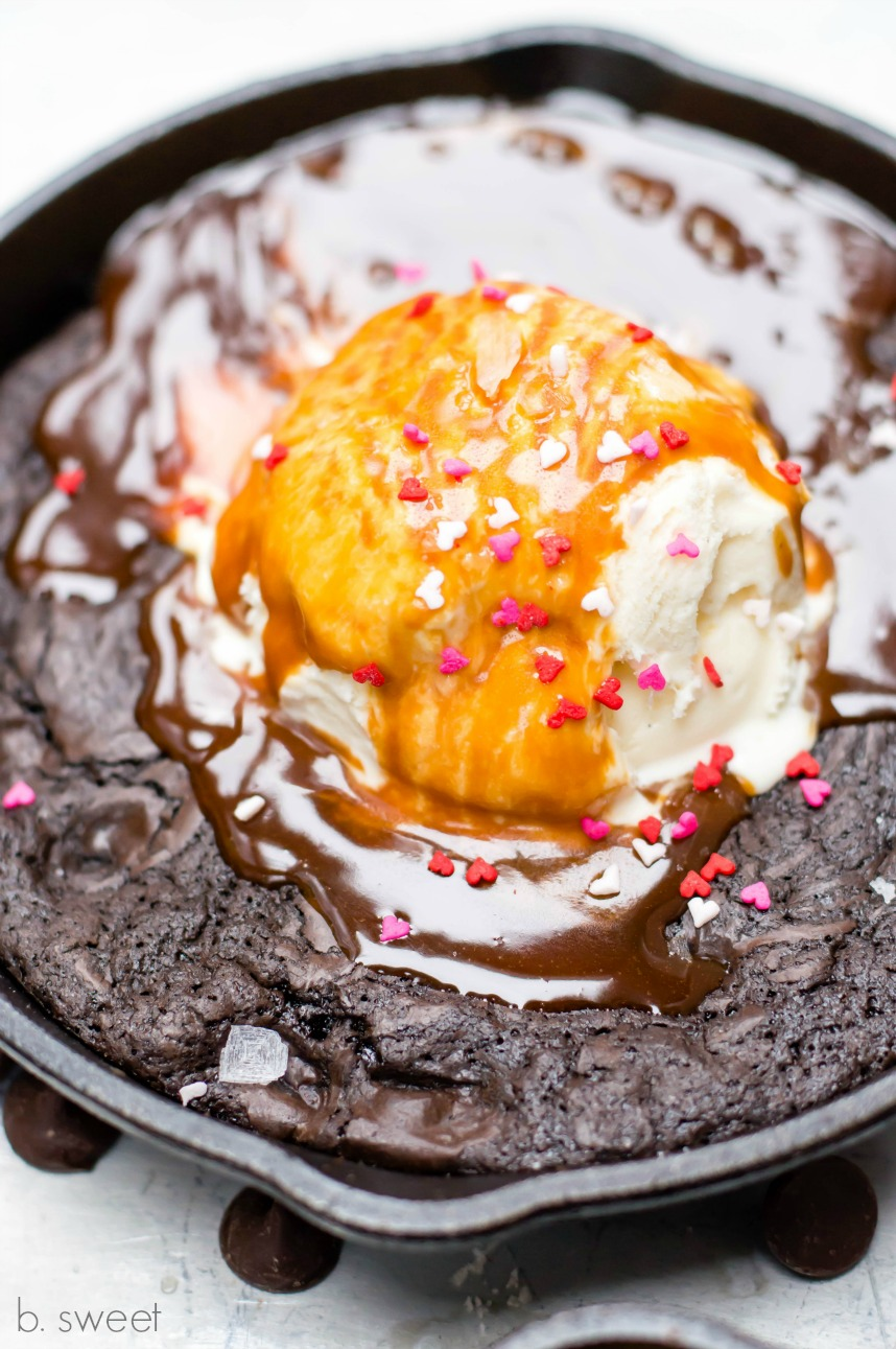 Skillet Brownie Sundae for Two