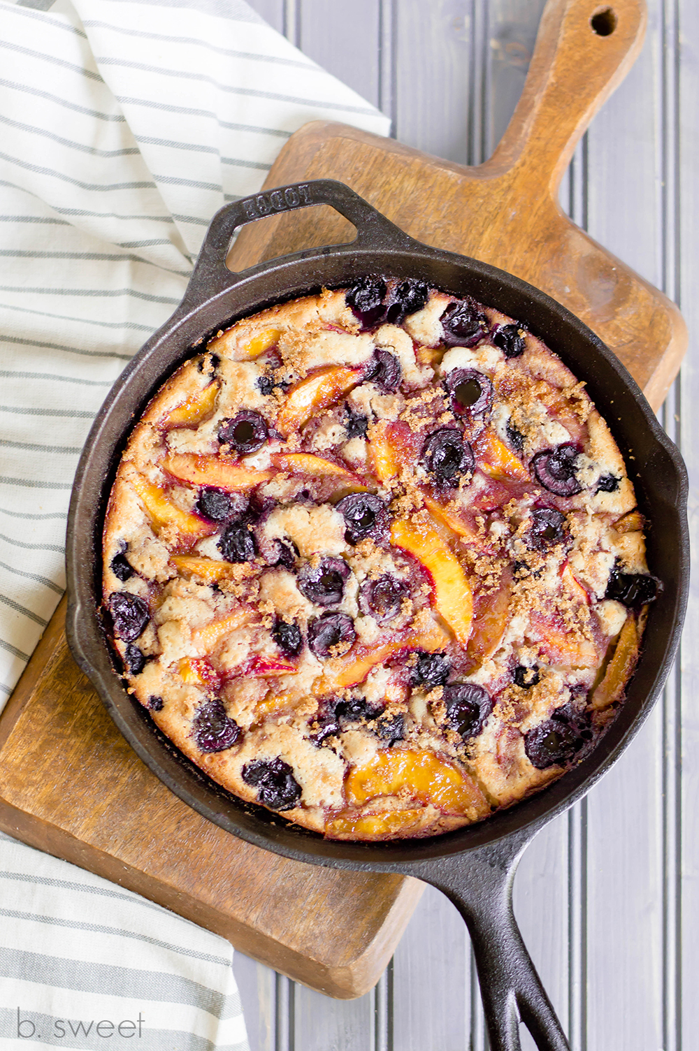 Bourbon Summer Fruit Cobbler