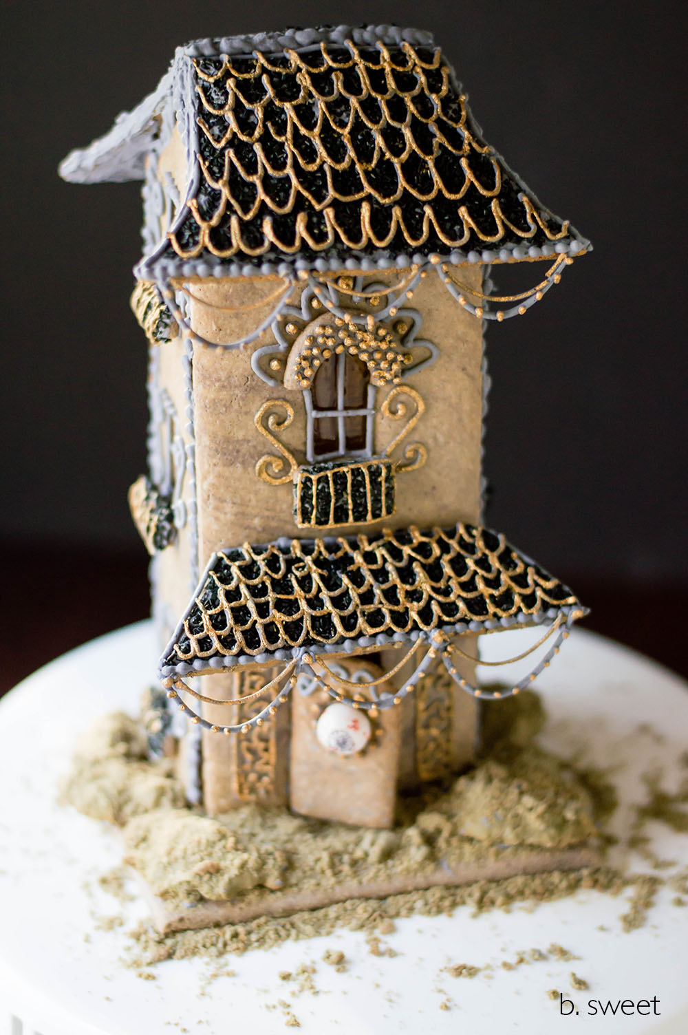 Halloween Haunted Tower Gingerbread House - b. sweet