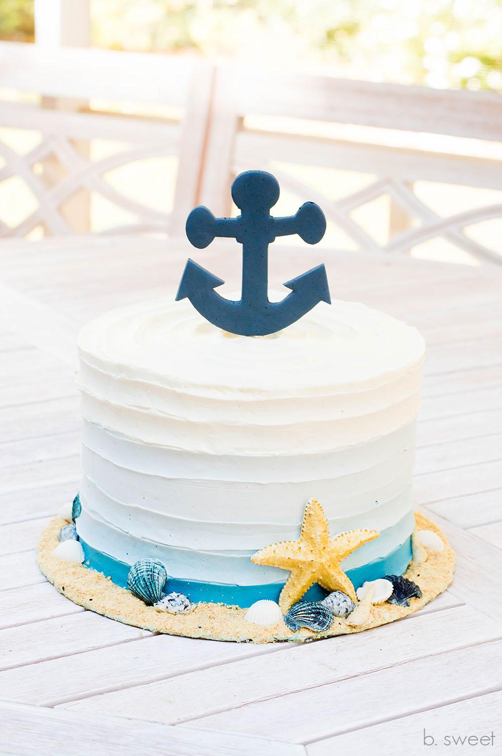 Nautical Ombre Cake - b. sweet
