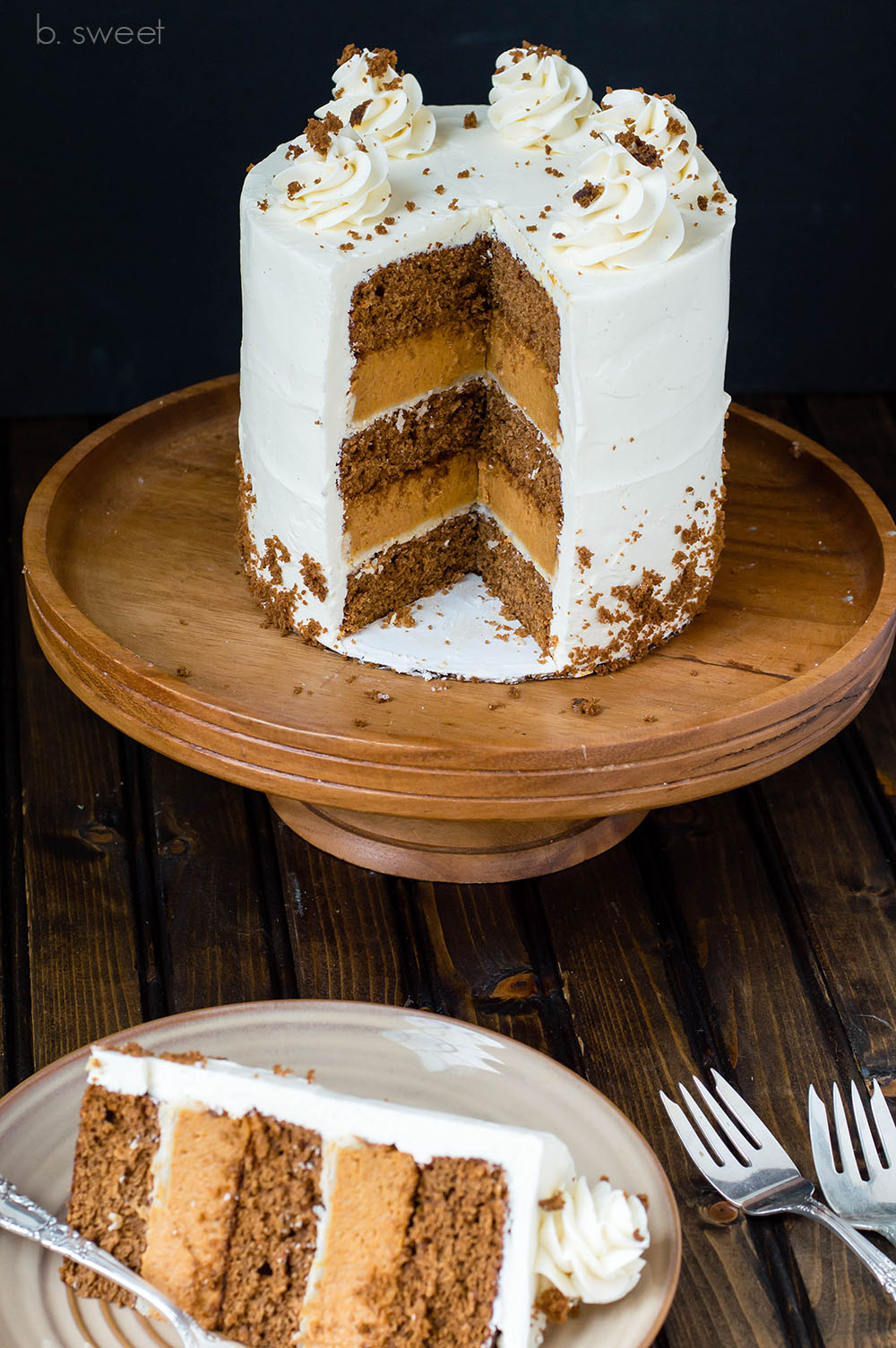 Ginger Spice Pumpkin Pie Cake - b. sweet