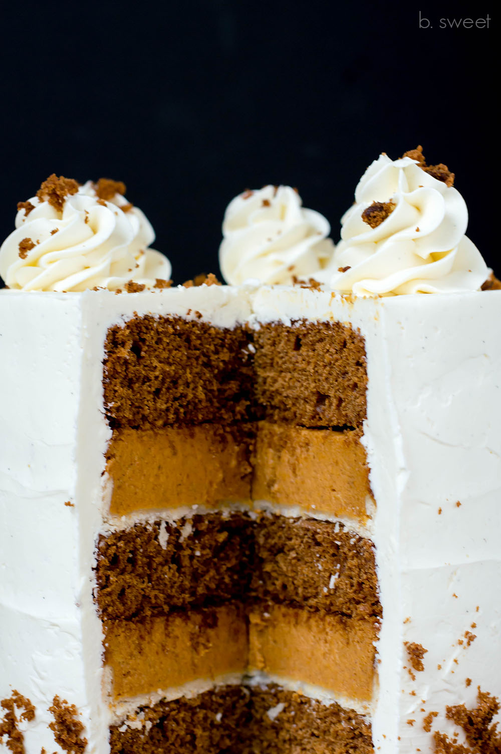 Ginger Spice Pumpkin Pie Cake- b. sweet