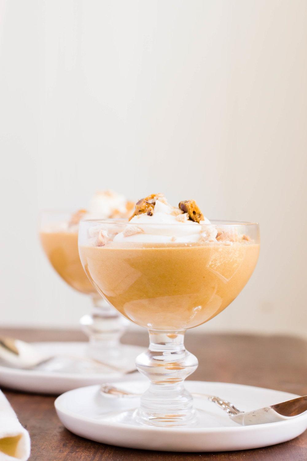 Caramelized White Chocolate Mousse - b. sweet