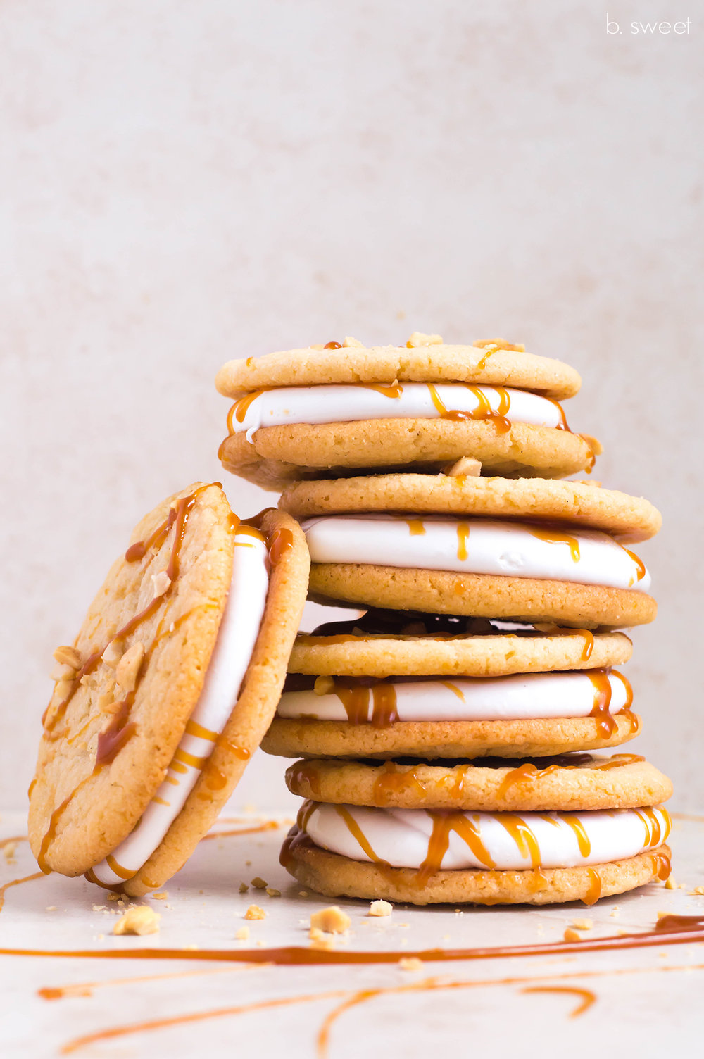 Marshmallow Sandwich Cookies - b. sweet