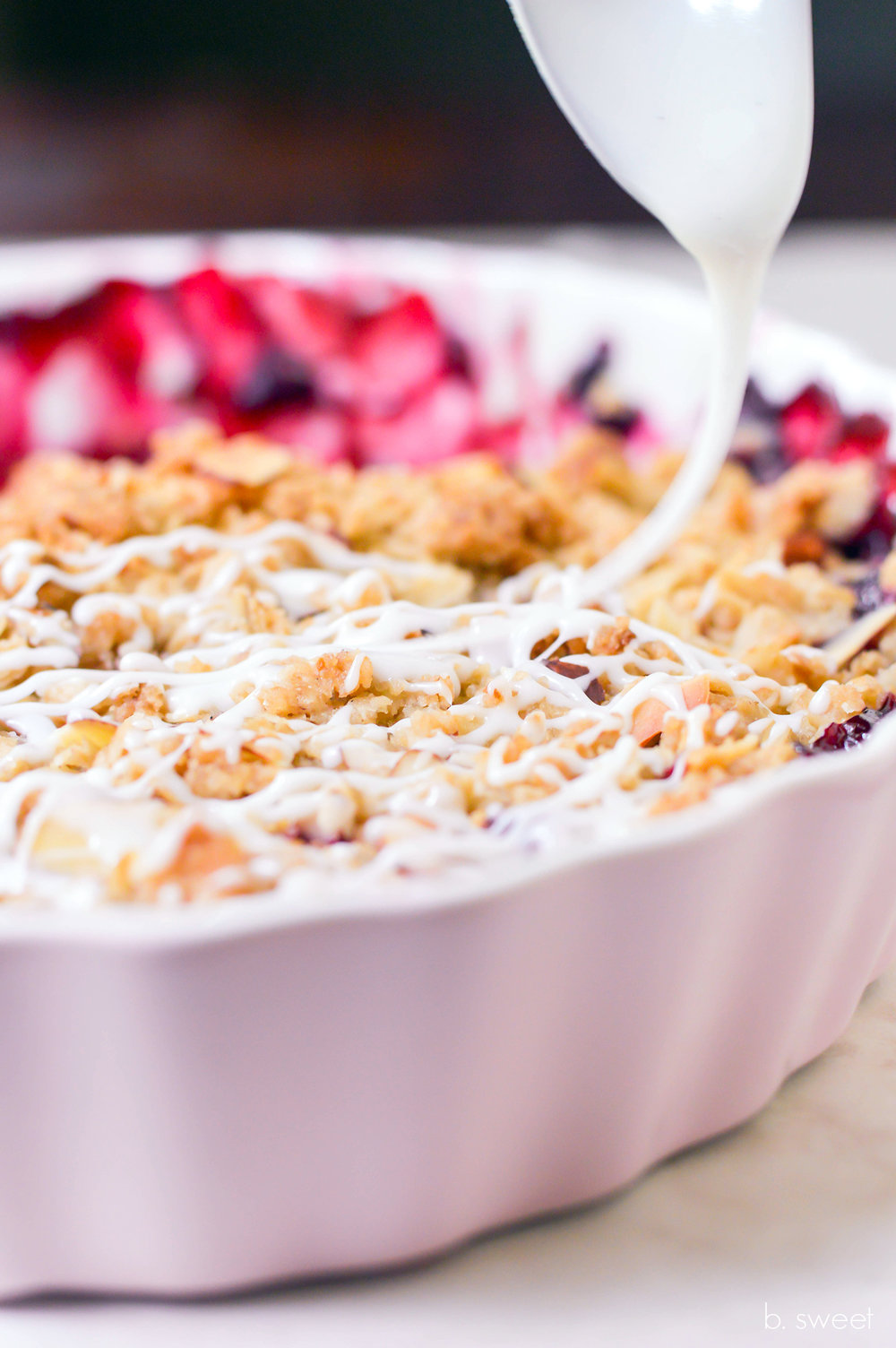 Vanilla Almond Plum Berry Crisp - b. sweet