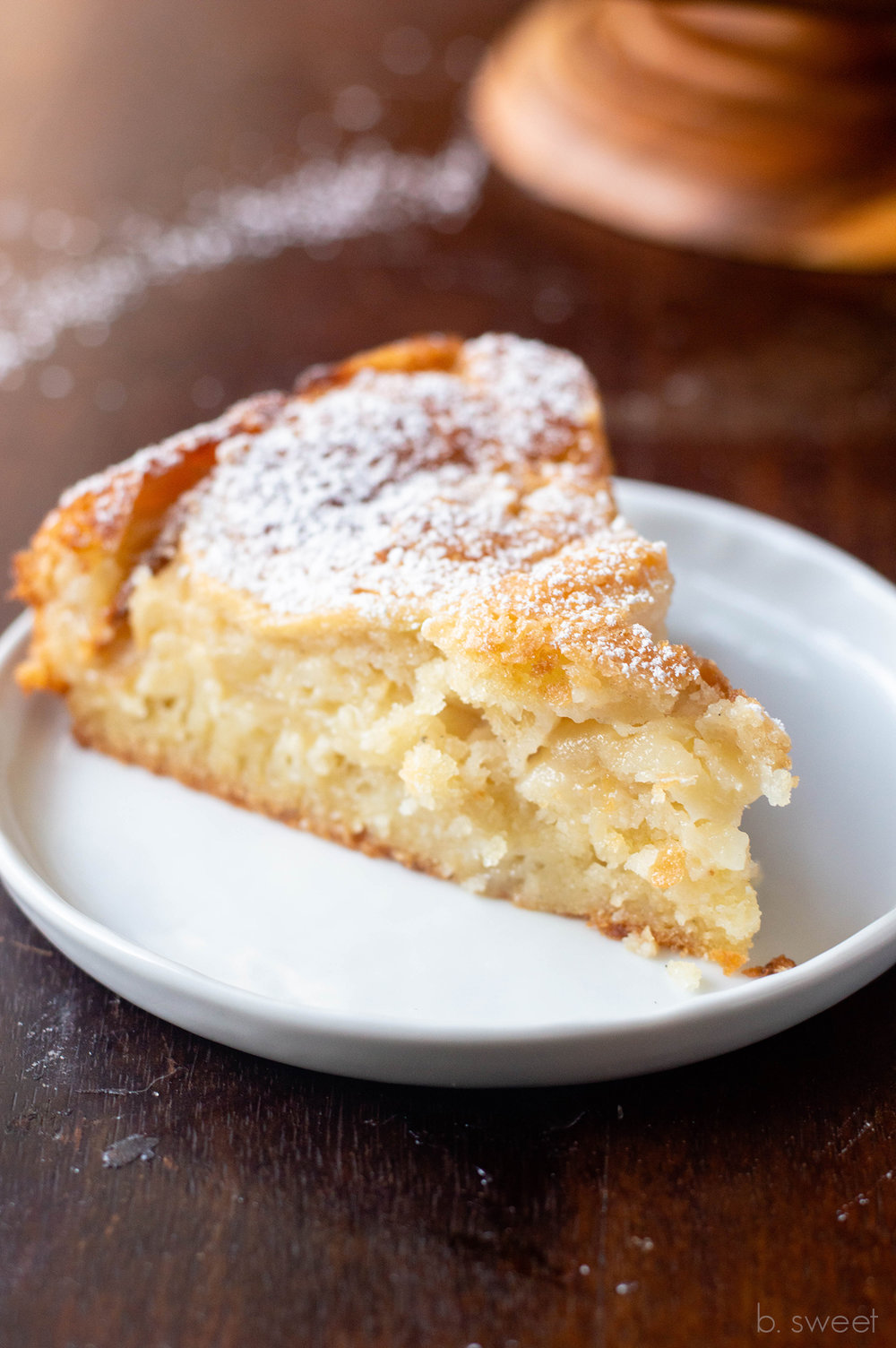 French Apple Cake with Maple Ginger Custard Sauce - b. sweet