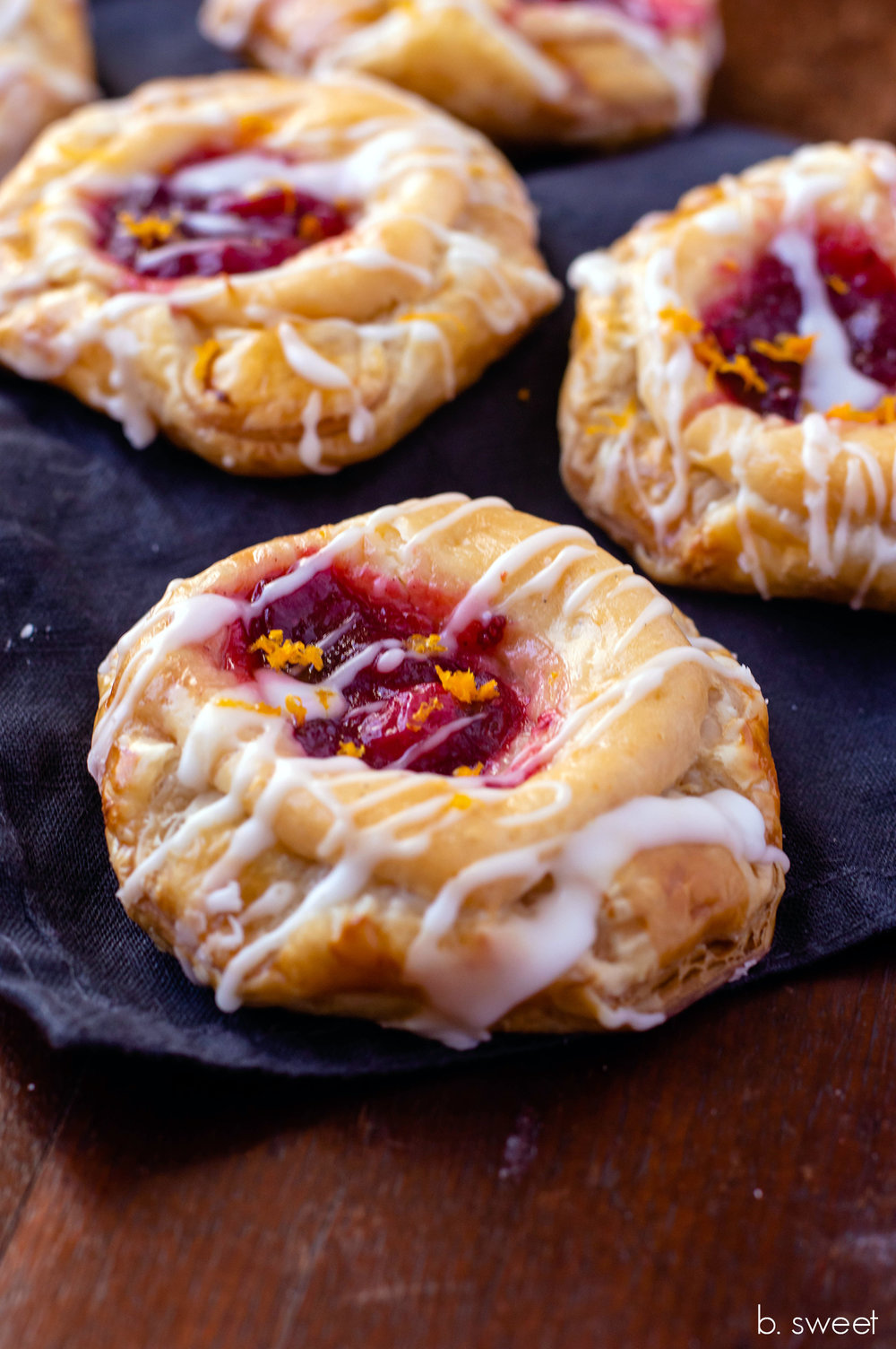 Honey Orange Cranberry Cream Cheese Danish - b. sweet