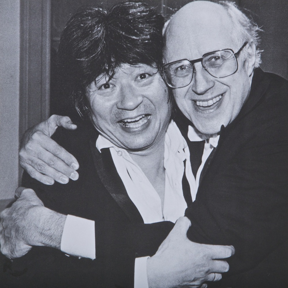 Seiji Ozawa with Rostropovich