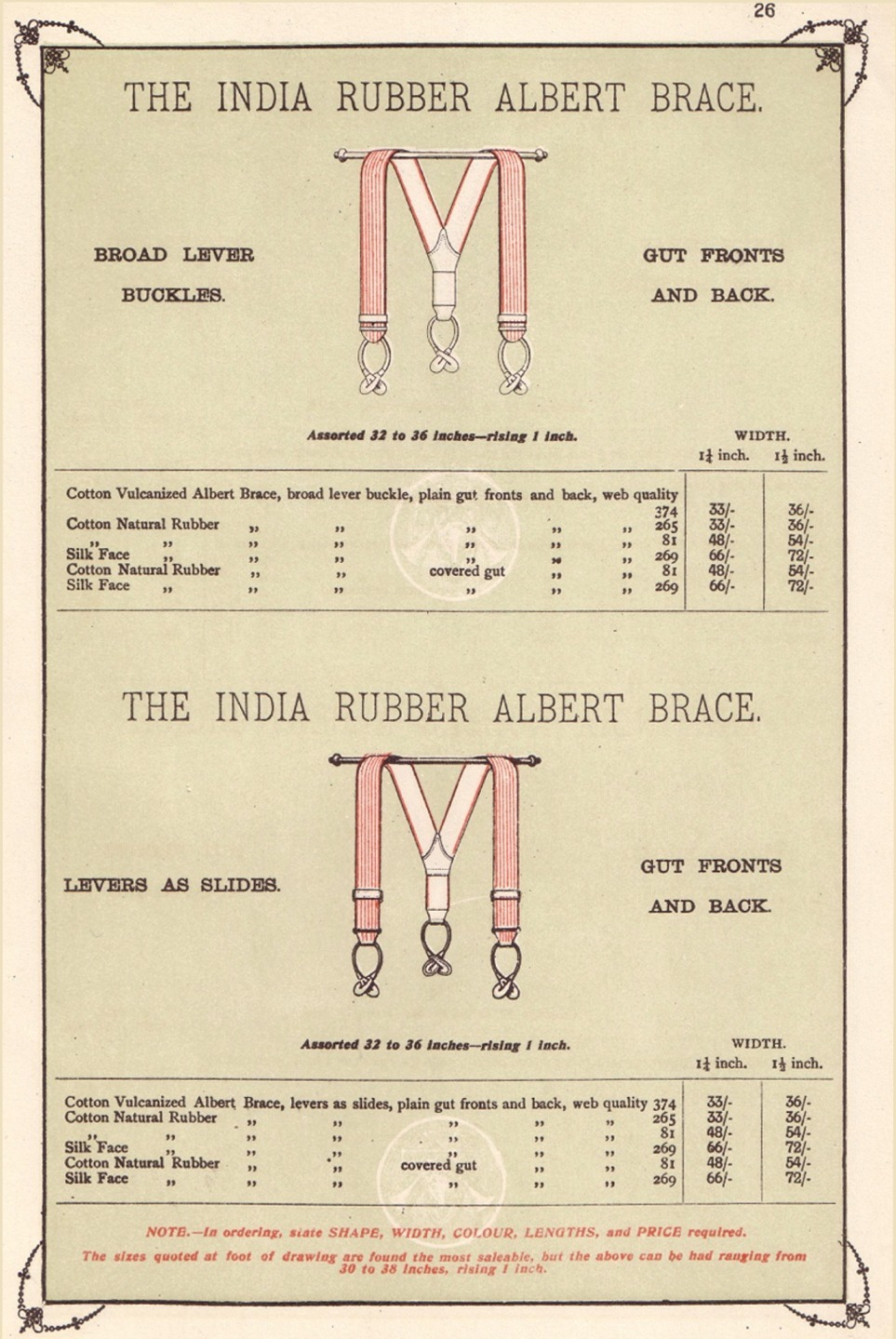 An 1870s catalog page from Albert Thurston
