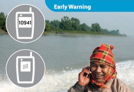 Fig. 4. An illustration of Bangladesh's cellphone-based early warning system, by UNDP Bangladesh.