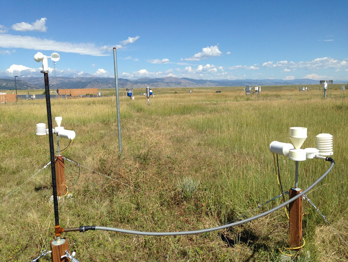 Fig 5. Example of the 3D-printed hyperlocal weather monitoring system being developed by NOAA and USAID. Photo courtesy of Kelly Sponberg, NOAA.