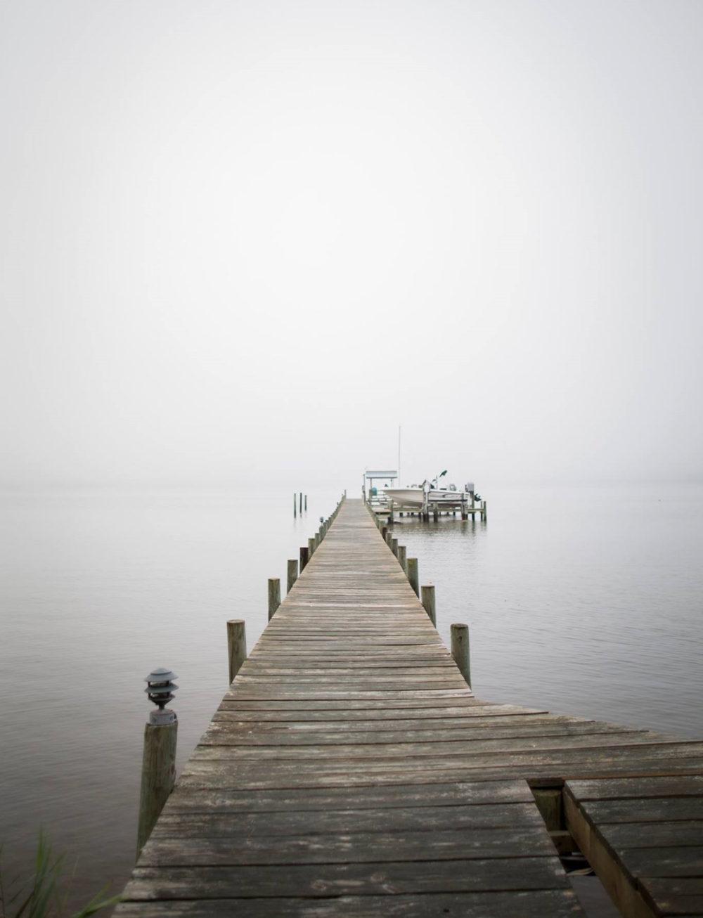 Morning on the pier. Deltaville, VA. Photo by Brittany Fan.