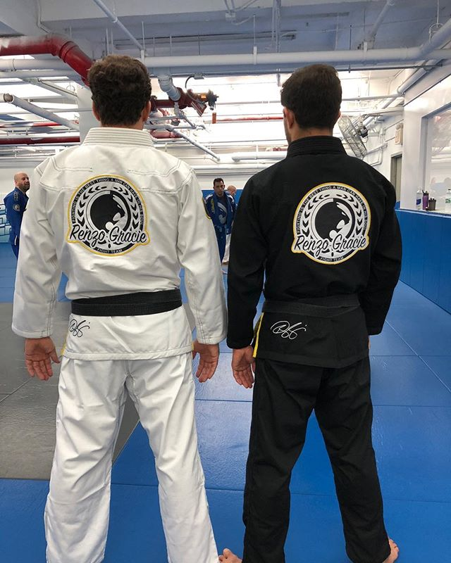 Prof. @igorgracie @zercosta wearing 2 of the new Renzo Gracie Comp gi's available now at the academy and soon available online #renzogracie #teamrenzogracie #graciebjj #mma #brazilianjiujitsu #jiujitsulifestyle #jiujitsu #ufc #pridefc #valetudo