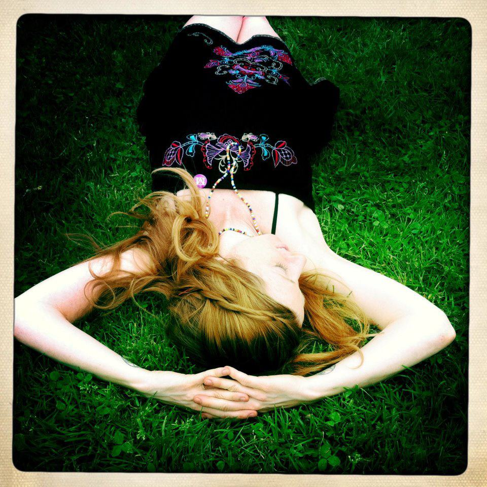 Post Met, Central Park lawn, I am so happy that I am upside down.