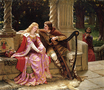 Tristan  and  Iseult  as depicted by  Edmund Blair Leighton (1853–1922).  The myth and the essence of the love triangle!