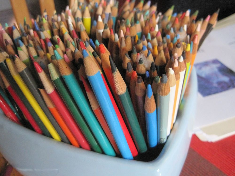 My colored pencil selection