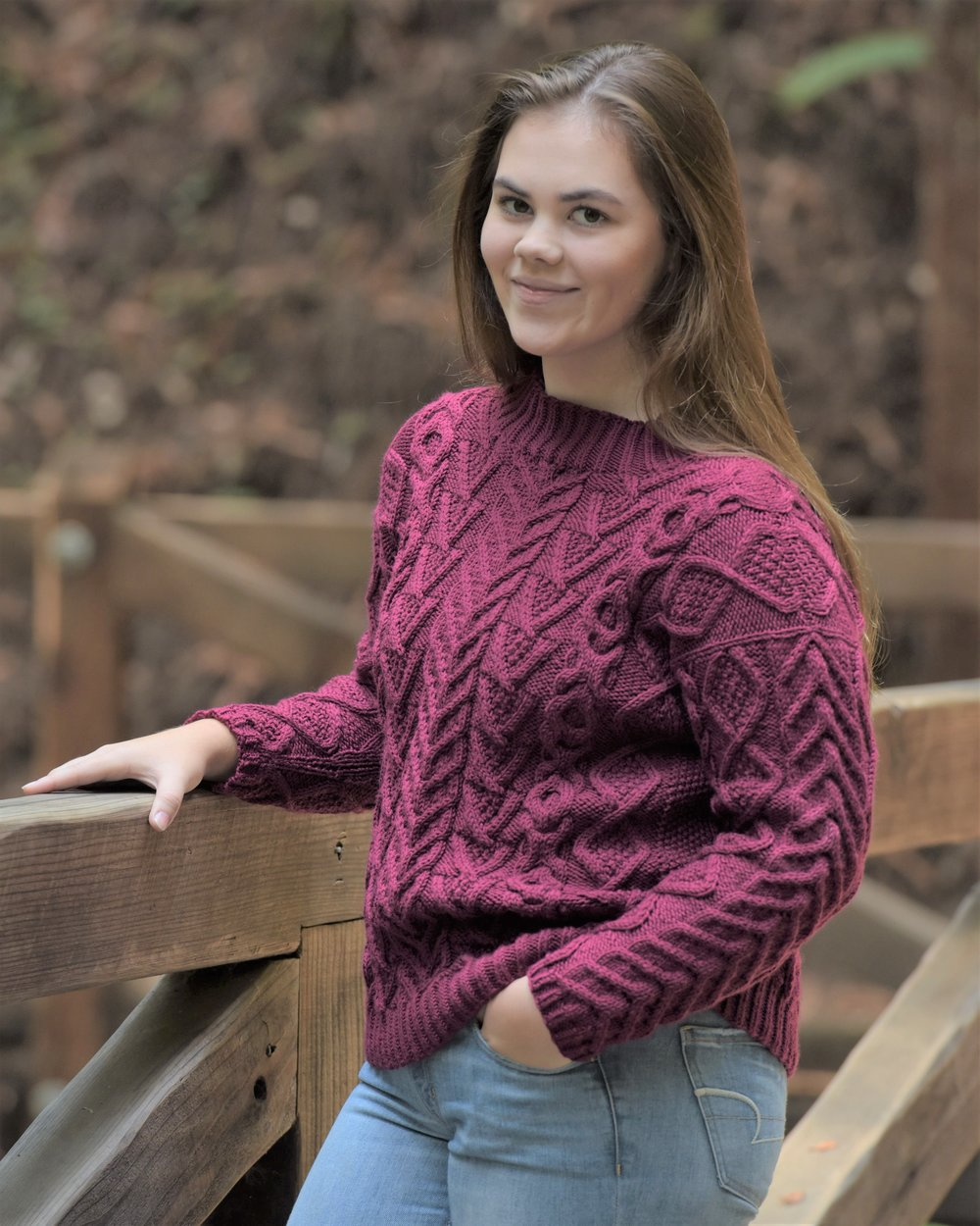 Francesca's cabled sweater.JPG