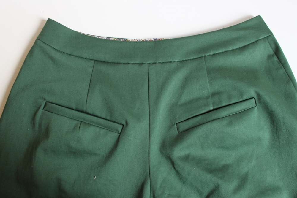 DIY culottes welt pocket 1
