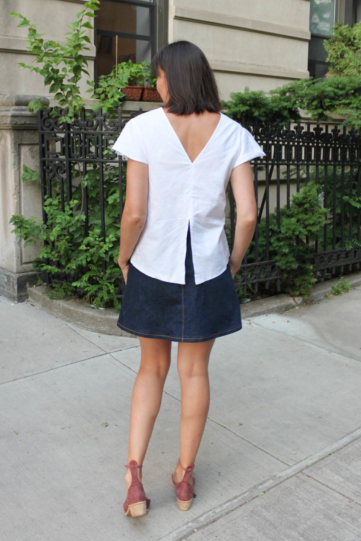 Rosari skirt and Flutter blouse 9