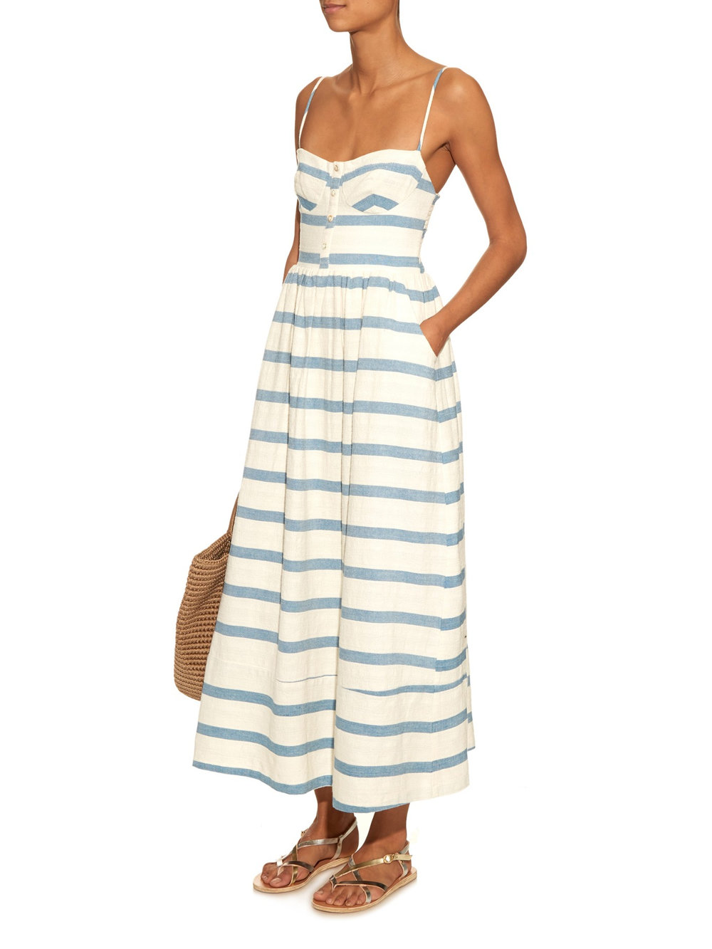Mara Hoffman Bustier Striped Sundress