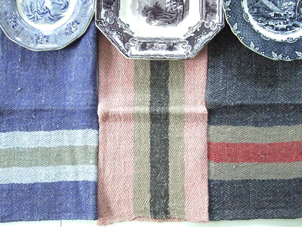 Table Manners Our Namibia herringbone linen stripes bring rustic grace to the dining table.