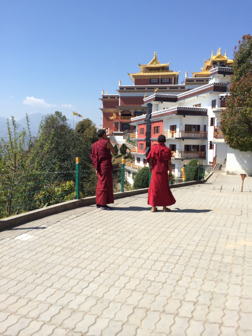 Visiting a Buddhist monastery.