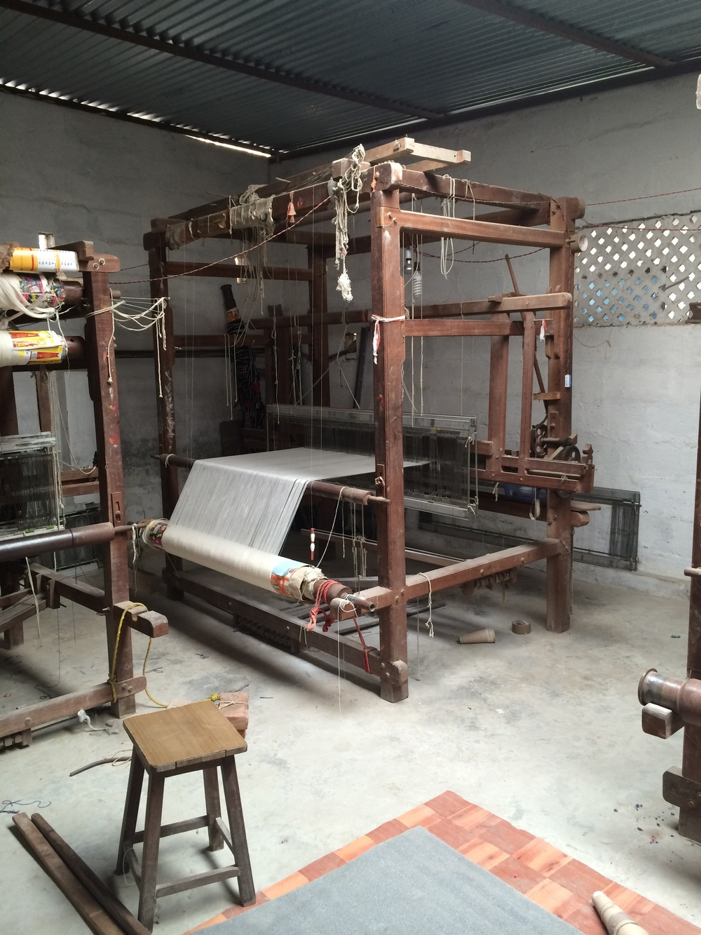 An old loom at rest.