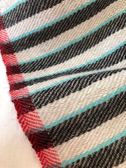 herringbone and twill and stripes in the Square 2 neckerchief