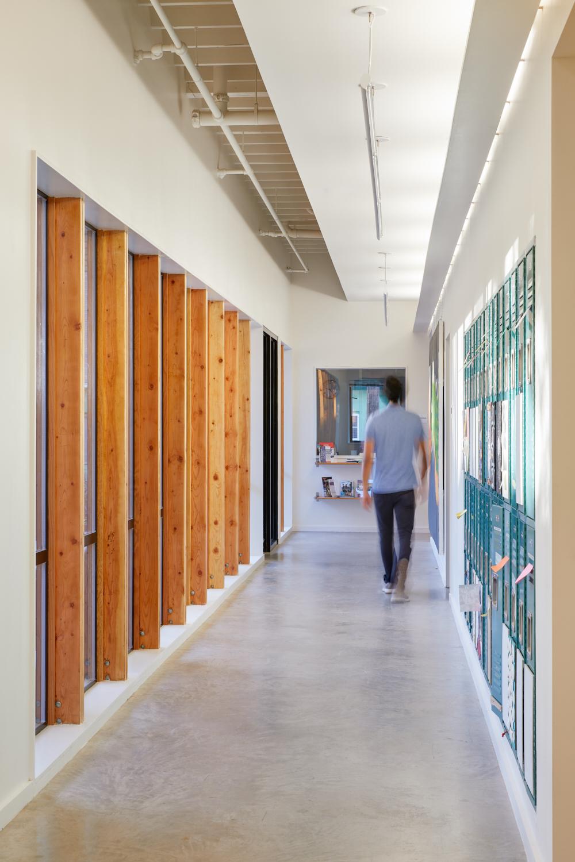 Douglas Fir Hallway Window Wall