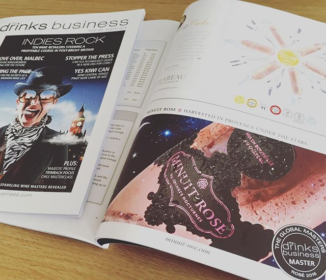 Check our feature in @thedrinksbusiness this month awarding us the highest title in the #GlobalRoséMasters competition🎈🏆#MinuitRoseMoment #Master #Provence