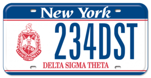 Delta Sigma Theta License Plate New York