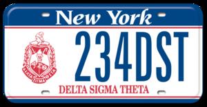 Delta Sigma Theta License Plate New York