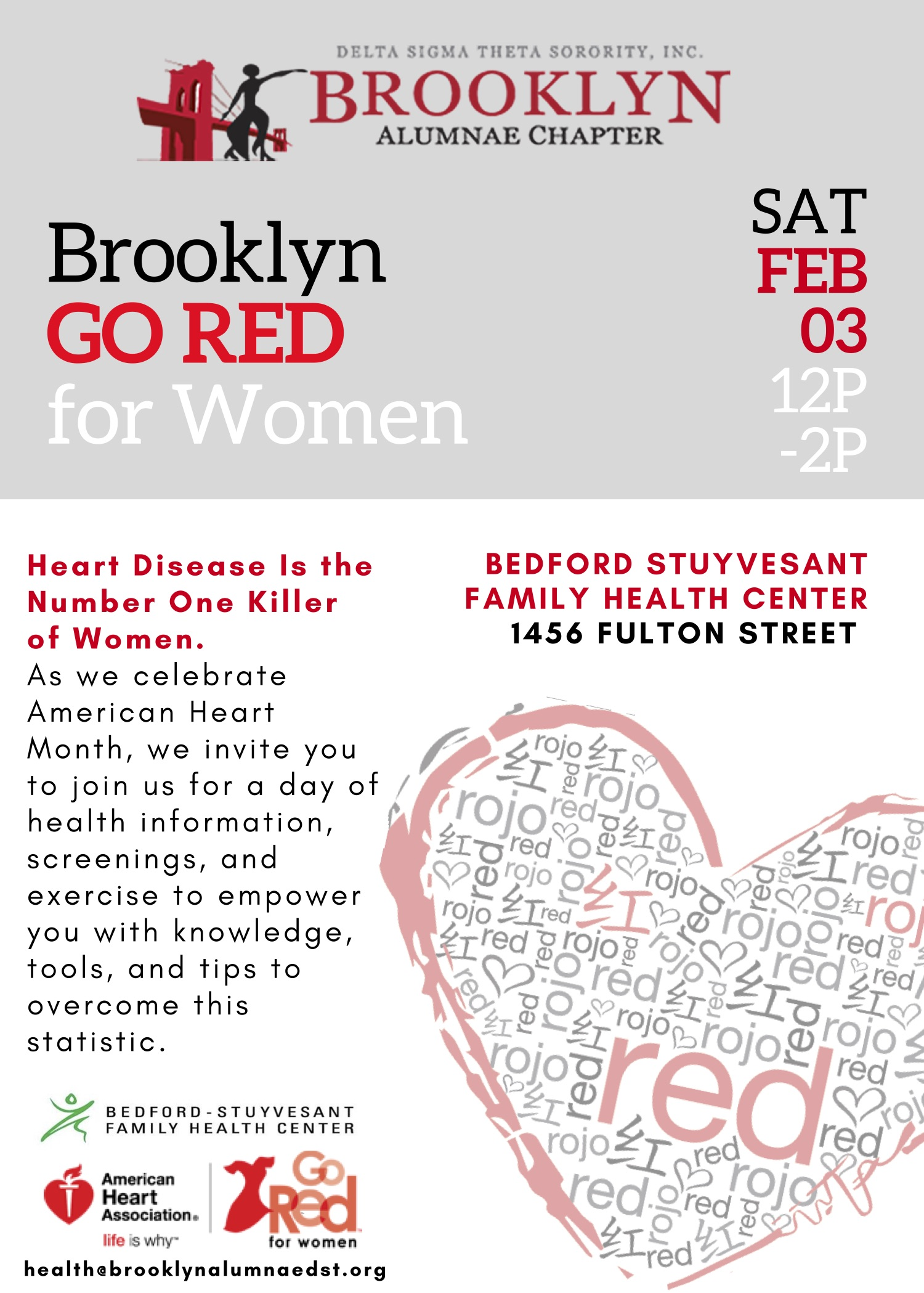 GO RED for Women — Brooklyn Alumnae Chapter, Delta Sigma Theta