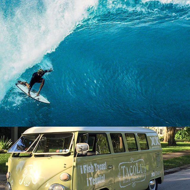 """@thebanginbus is slinging tacos tonight at the legendary @sunrisesurfshop before and during the premiere of """"view from a blue moon"""". The movie is gonna be shown outside in living color, under the stars!  All proceeds of Bangin Bus sales will go to Kaleb Kirschenbaum for his hospital and rehab--Every penny, so come hungry and enjoy the show! @tacolujaxbeach @aquaeastsurfshop  Tacos on sale at 5pm."""