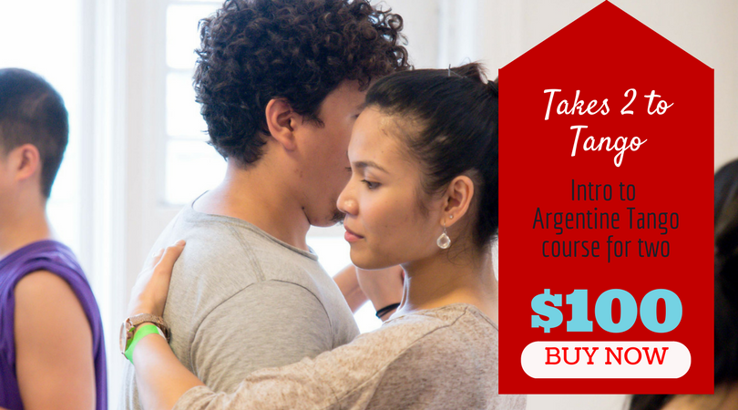 THE FINE PRINT:  Enrollment into a course will be required at check out to complete this purchase.  This deal is valid for 4 week Intro to Argentine Tango courses and registrants must sign up for the full course from beginning to end. Purchaser must sign up for a course that has an enrolment start date prior to March 31, 2018.. No refunds, transfers, credits or extensions. HST not included.