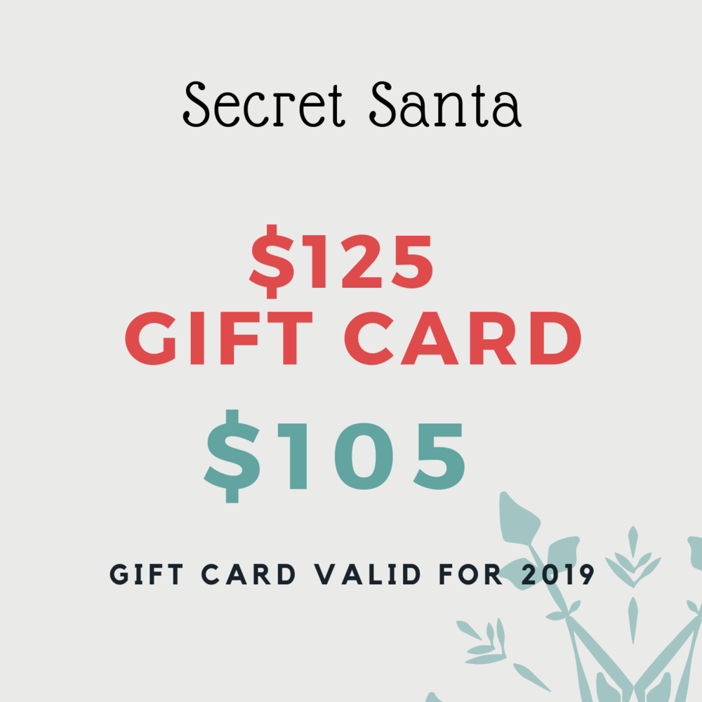 Spend $015 and get $125 to be used towards any service or product. Gift card can only be activated starting January 1, 2019.