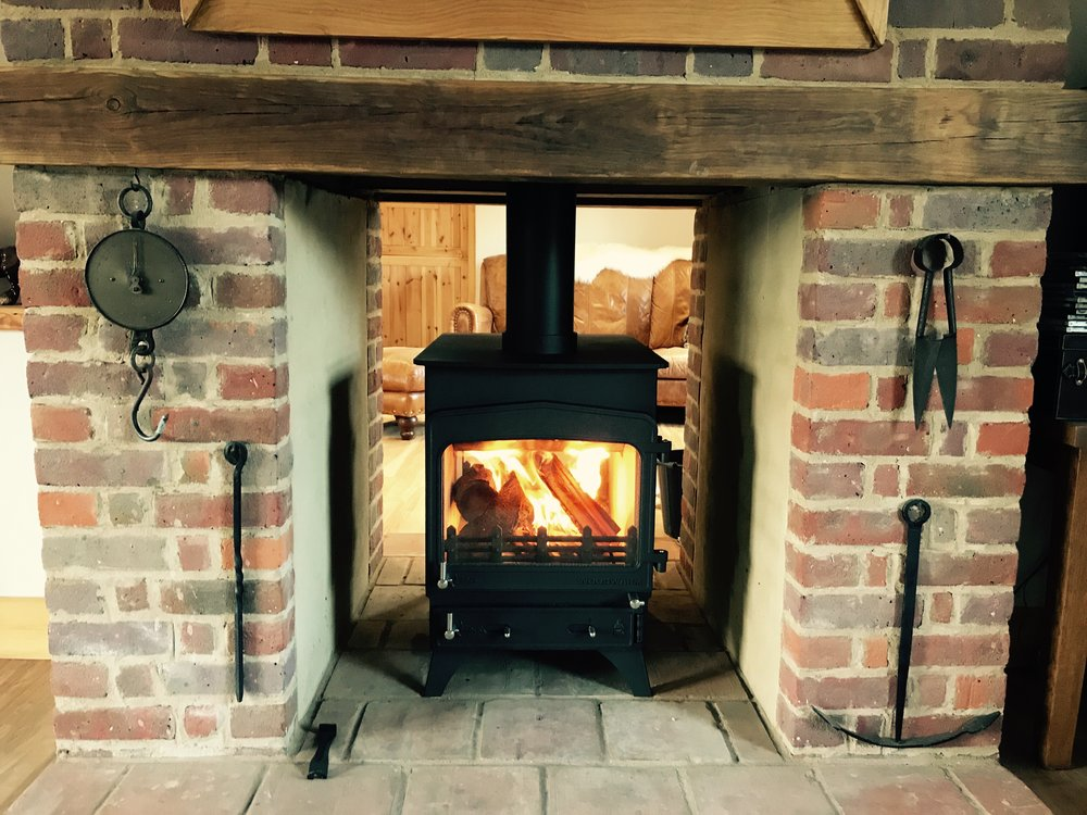 Woodwarm Fireview 6 Double sided  / double depth. 10kw multi fuel stove