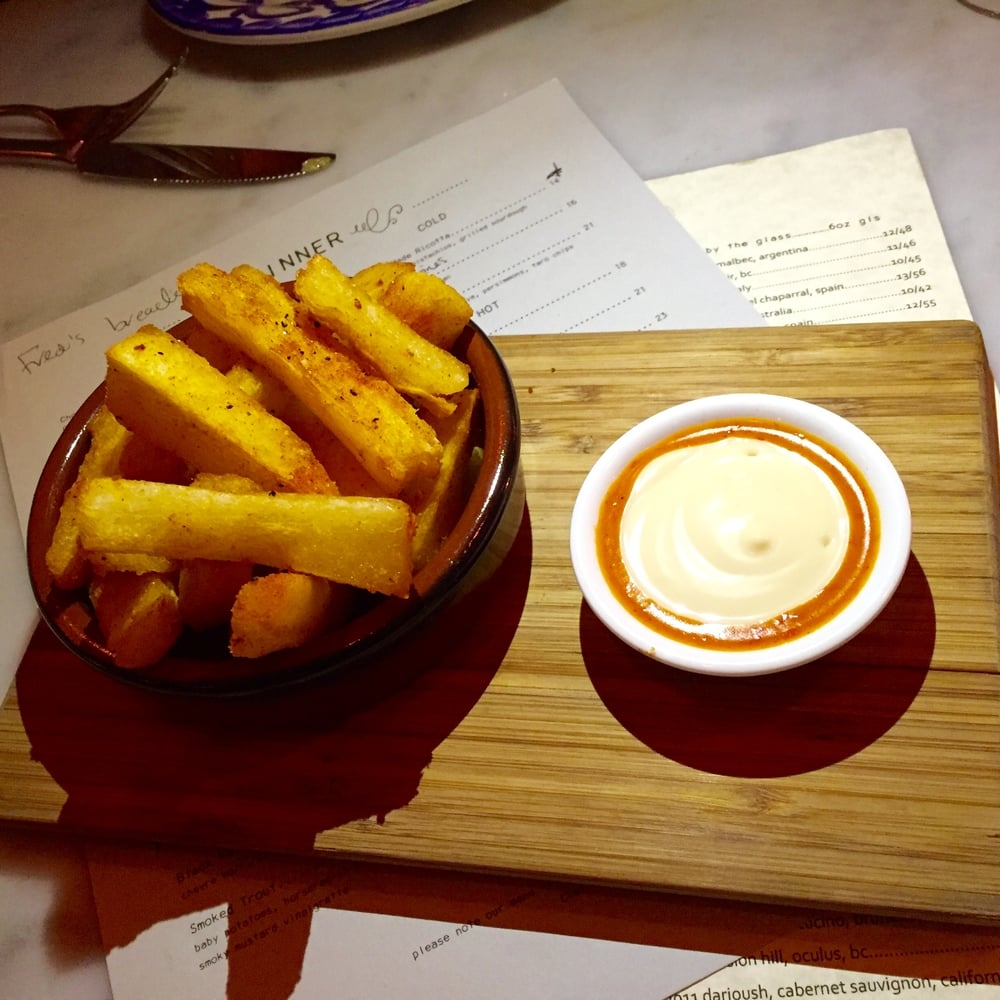Cassava fries with Piri Piri aioli.