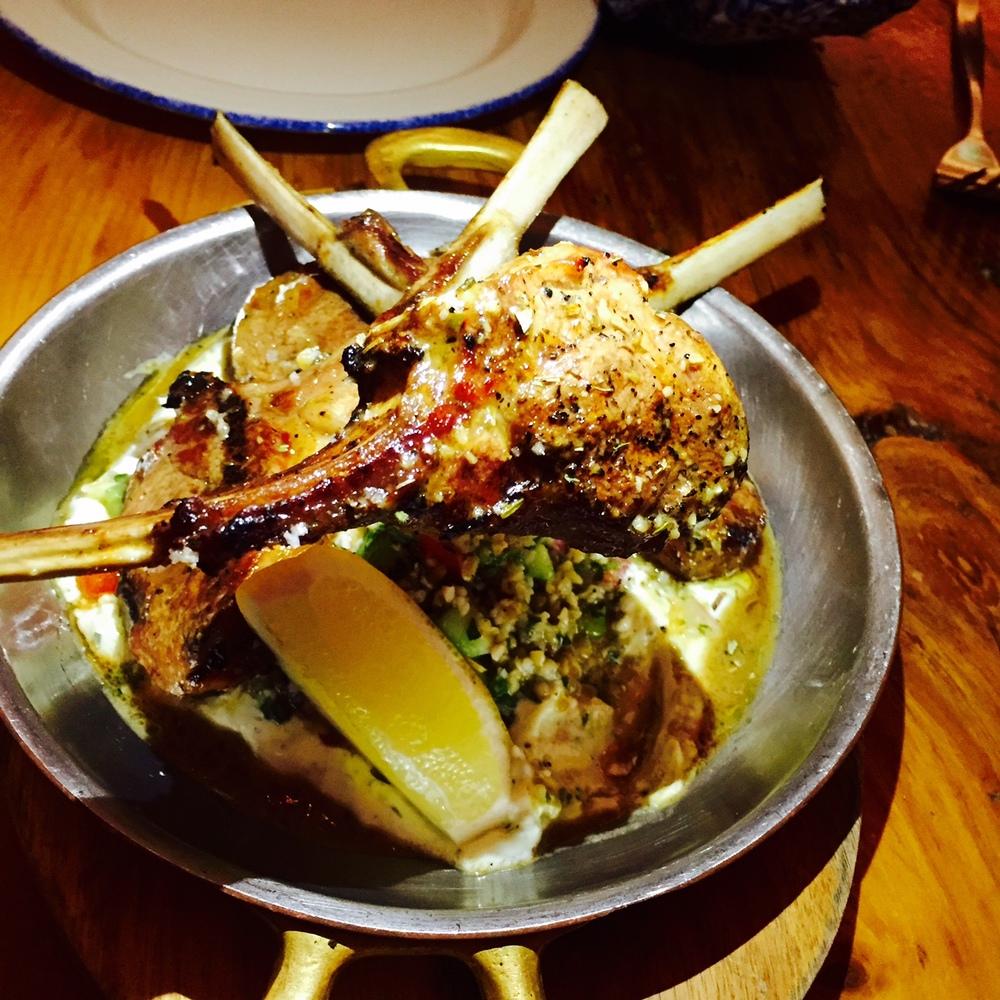 Paidakia,  grilled Ontario Lamb.