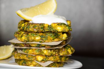 Spinach Fritters with a fresh twist of lemon