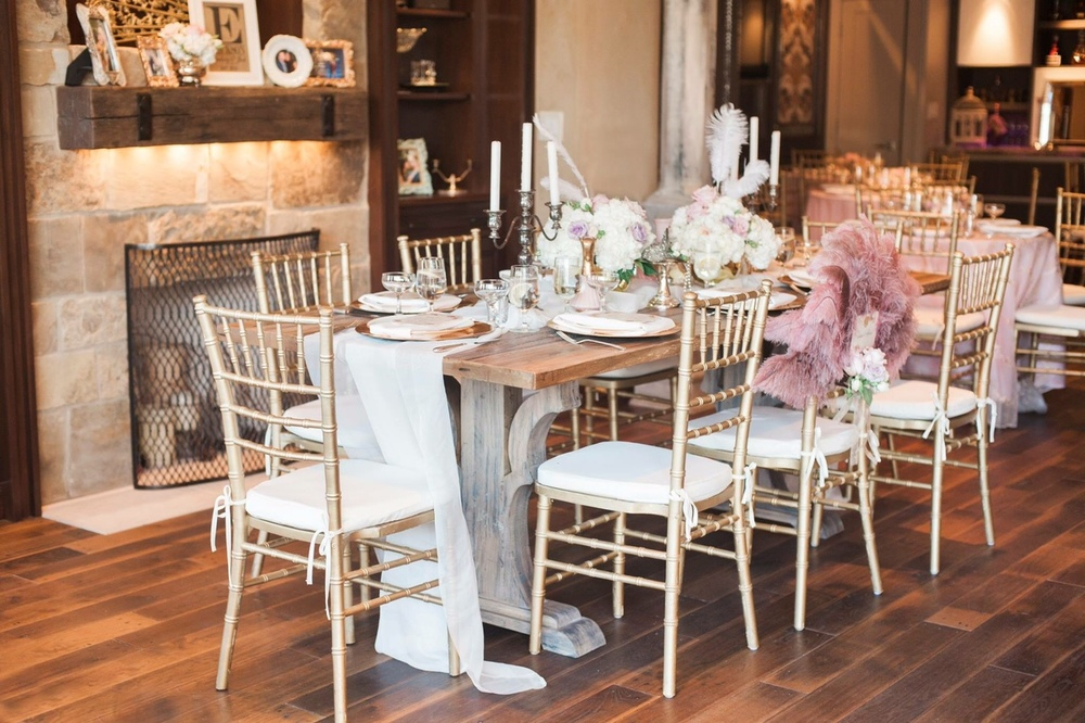 Old World Dining Table, Mantle and Firescreen