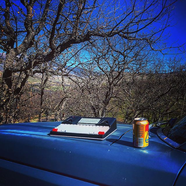 Today's office. #amwriting #outdoors @astrohaus #litrpg #puttingthelitinlitrpg #freewrite #lacroix #justhipsterthings #ford