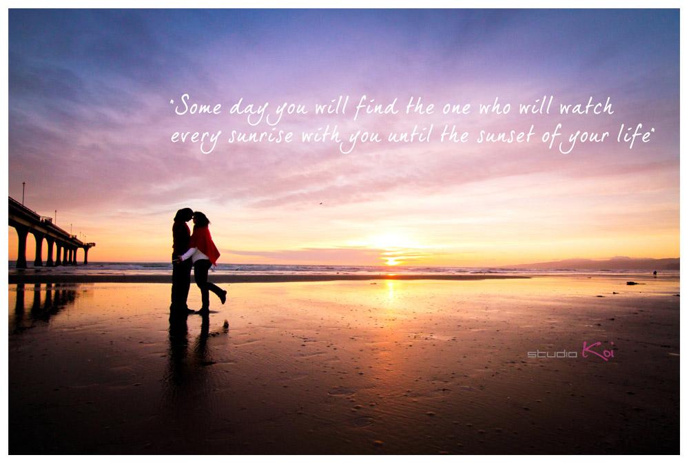 Romantic beach engagement shot at New Brighton beach Christchurch city