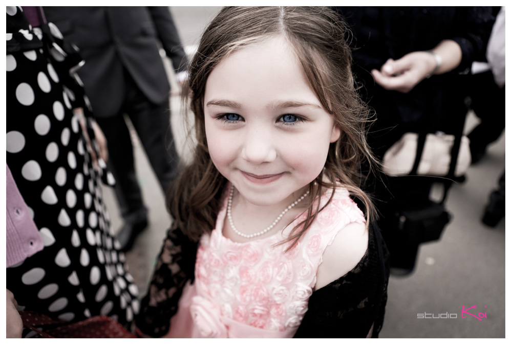 beautiful flower girl Christchurch wedding