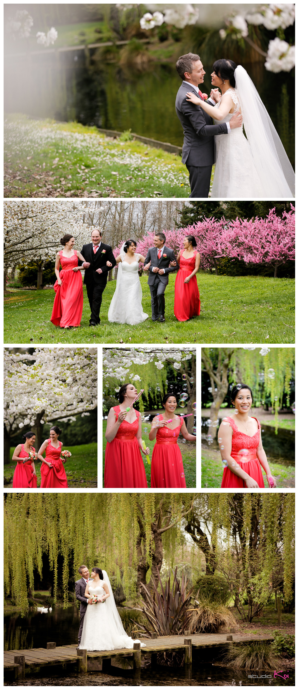 Christchurch Cherry Blossom wedding