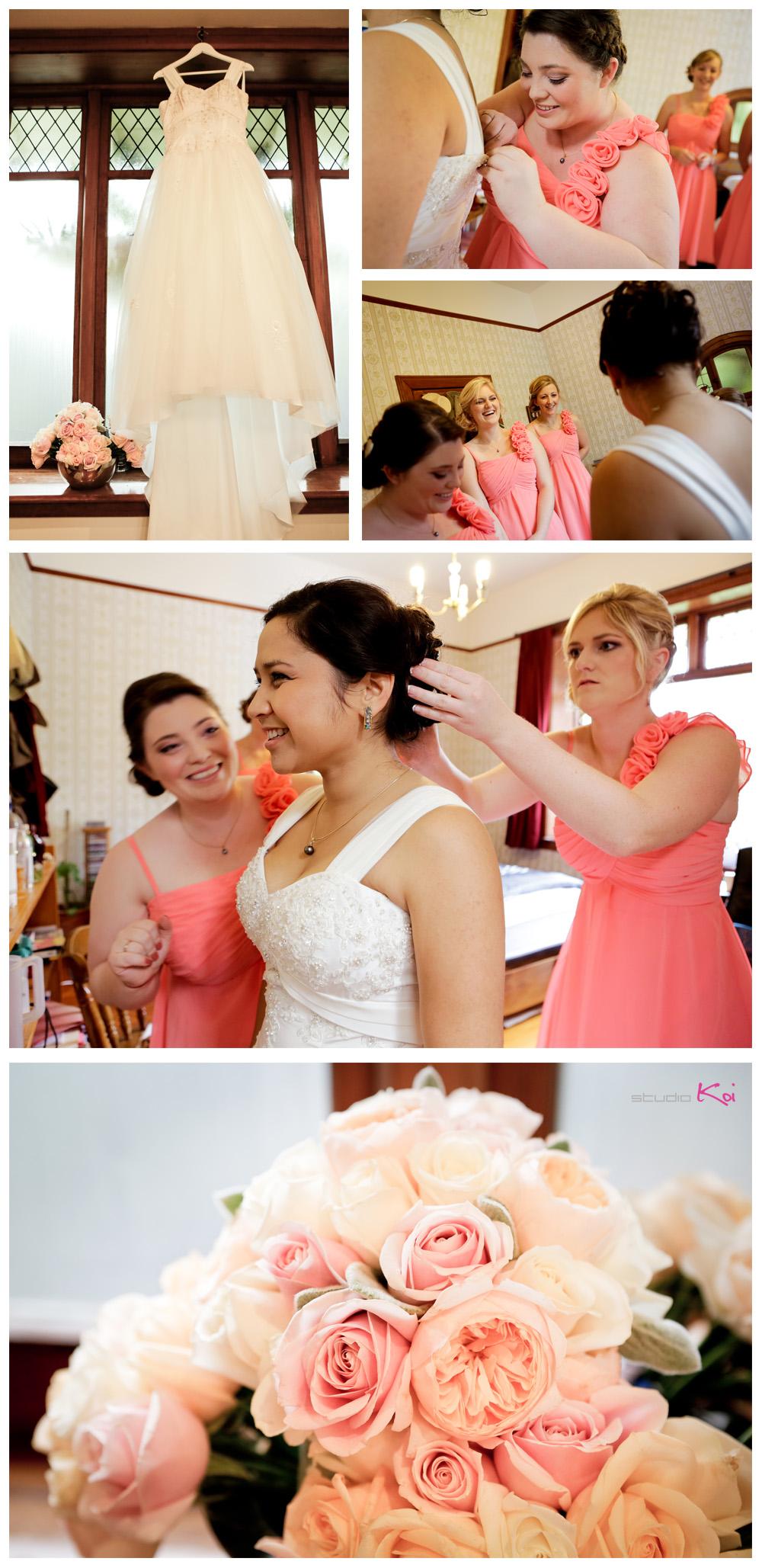 Gethsemane Gardens Christchurch wedding getting ready