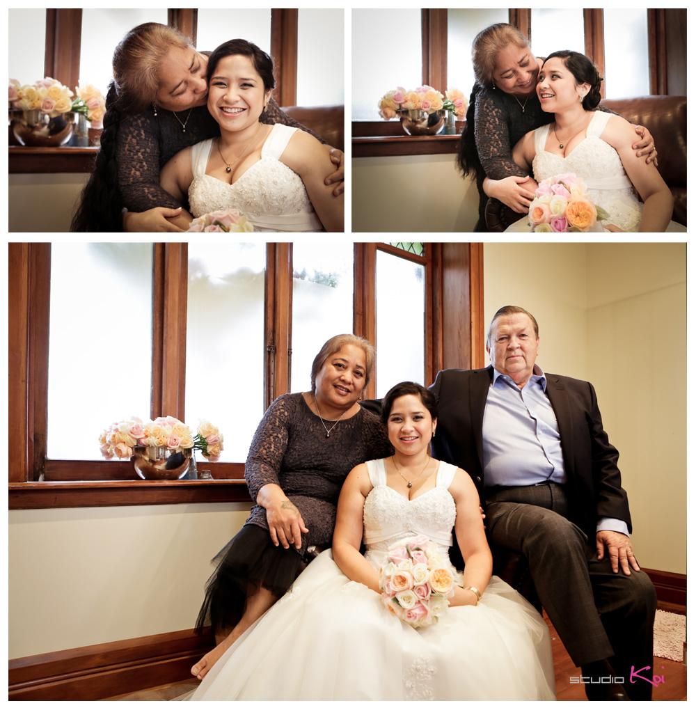 Gethsemane Gardens Christchurch wedding family photo